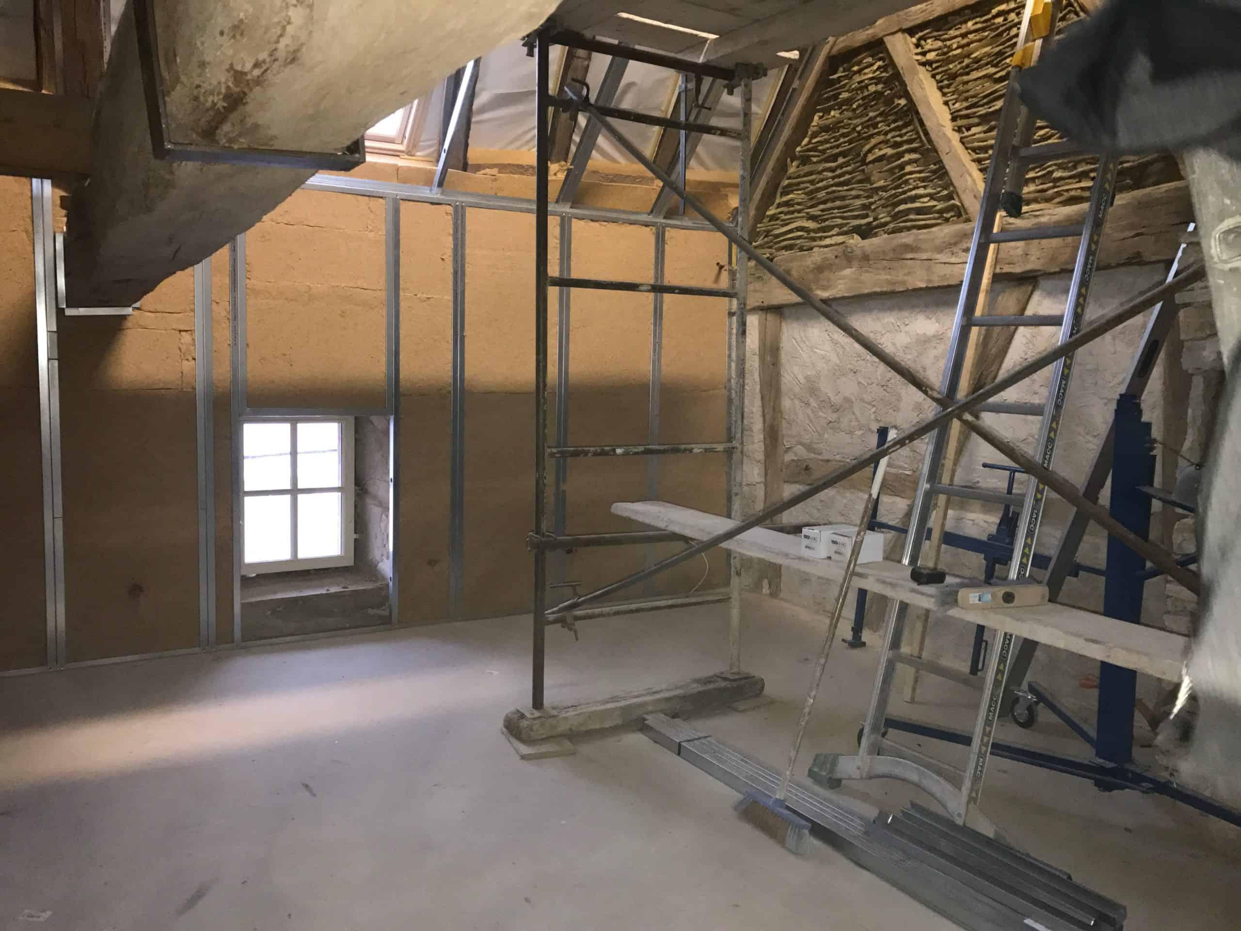isolation fibre de bois mur intérieur Dijon